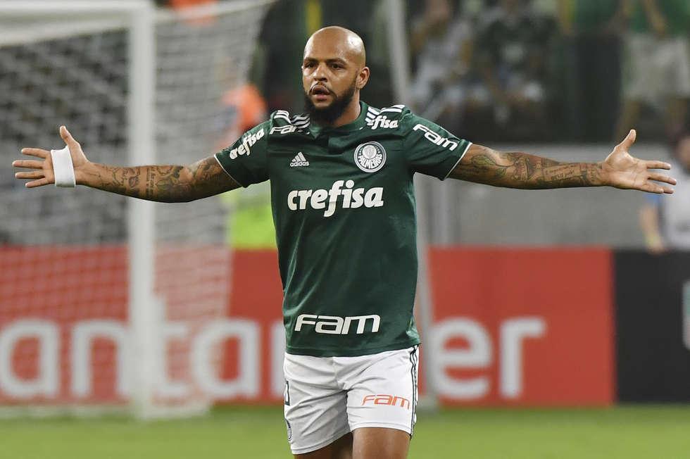 Felipe Melo, volante do Palmeiras. Crédito da Foto: Nelson Almeida/AFP