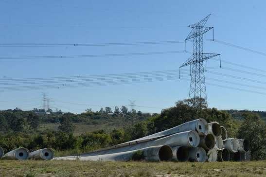 Pás eólicas estão abandonadas