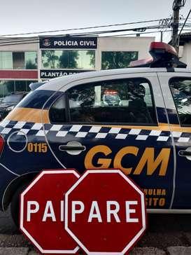 Vandalismo prejudica sinalização de trânsito