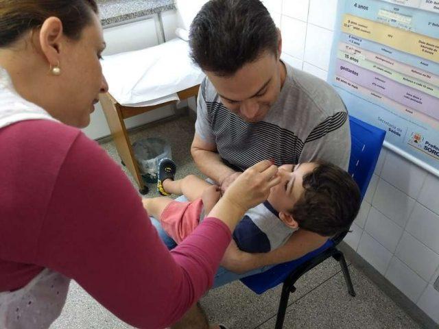 Sorocaba atinge meta de vacinação contra a pólio