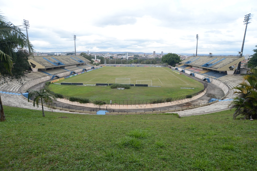 Vista panorâmica do Estádio Municipal Walter Ribeiro, em Sorocaba. Crédito da foto: Fábio Rogério / Arquivo JCS (9/8/2018)