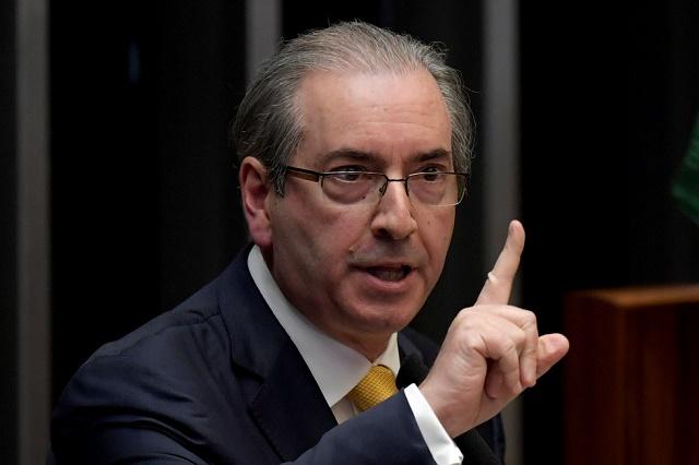 Eduardo Cunha é acusado de corrupção e de lavagem de dinheiro. Crédito da foto: Evaristo Sa/ AFP