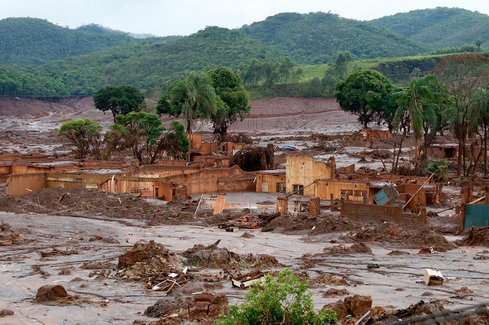 O rompimento da barragem da Samarco em Mariana matou 19 pessoas e se tornou uma das maiores tragédias ambientais do Brasil. Crédito da foto: Rogério Alves/ TV Senado/ AFP