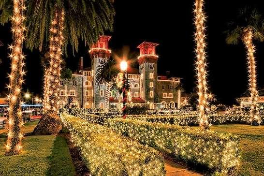 Viva o Natal iluminado da Flórida