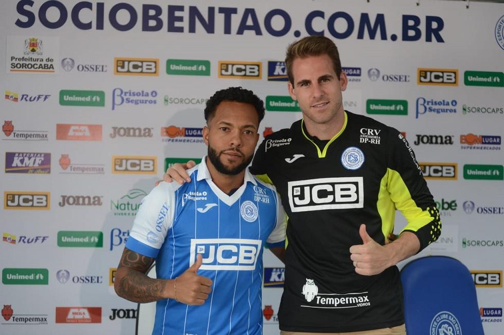 Goleiro Mateus Pasinato e volante Paulinho reforçam o São Bento