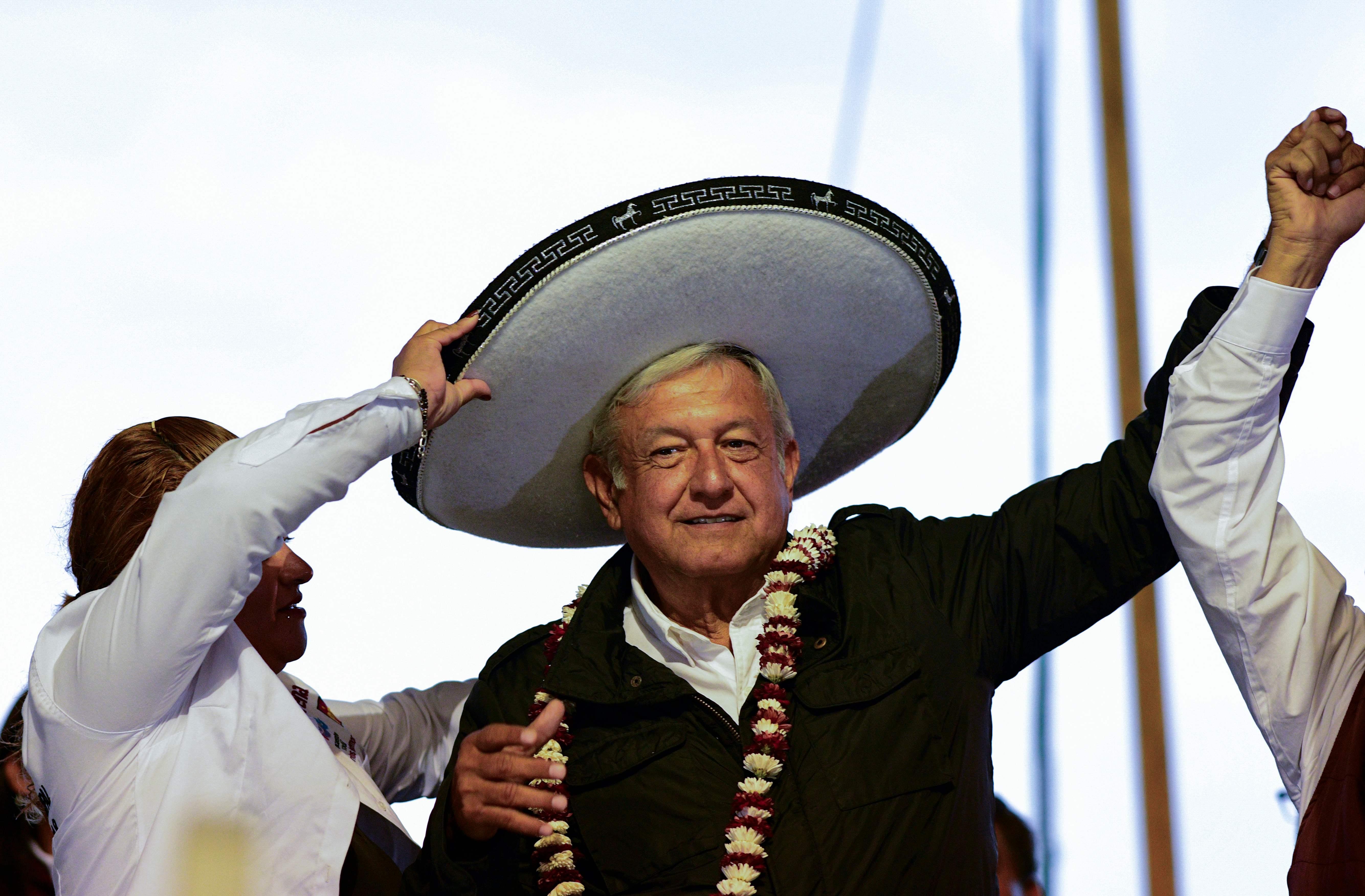López Obrador, de 65 anos, presidente do méxico. Crédito da Foto: AFP / Ronaldo SCHEMIDT