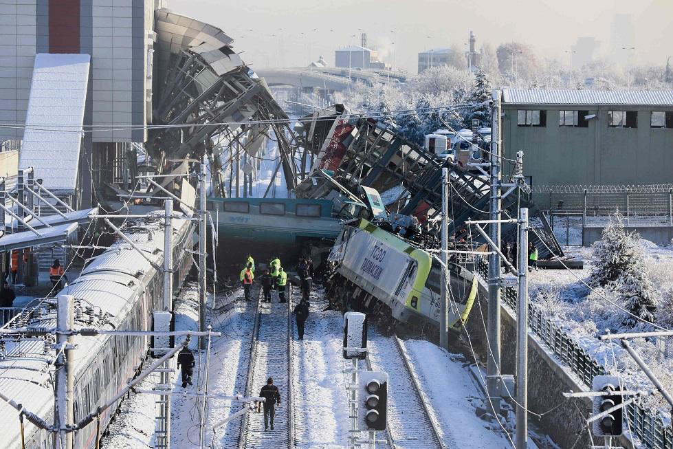 acidente de trem na Turquia