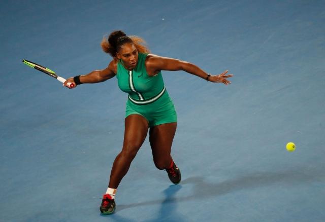 Serena Williams durante jogo do Aberto da Austrália.