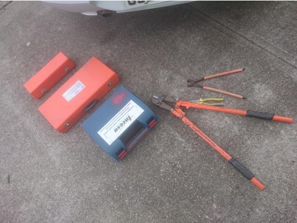 Suspeitos tentaram furtar ferramentas