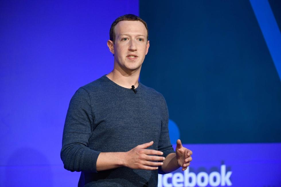 Mark Zuckerberg é o CEO do Facebook. Crédito da foto: Bertrand Guay / AFP (23/5/2018)