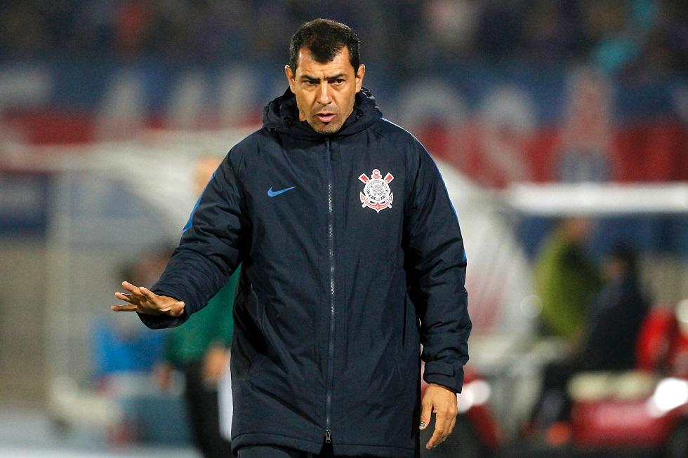 Fábio Carille, técnico do Corinthians, disse ter recebido sondagem do Atlético-MG. Crédito da foto: Claudio Reyes/ AFP