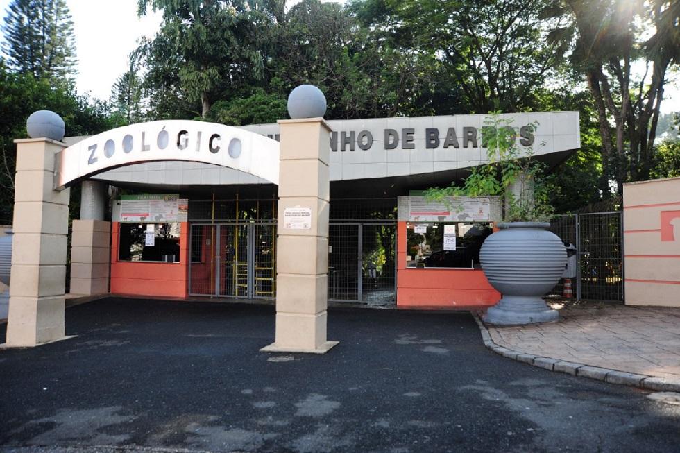"""Portaria do Parque Zoológico Municipal """"Quinzinho de Barros"""""""