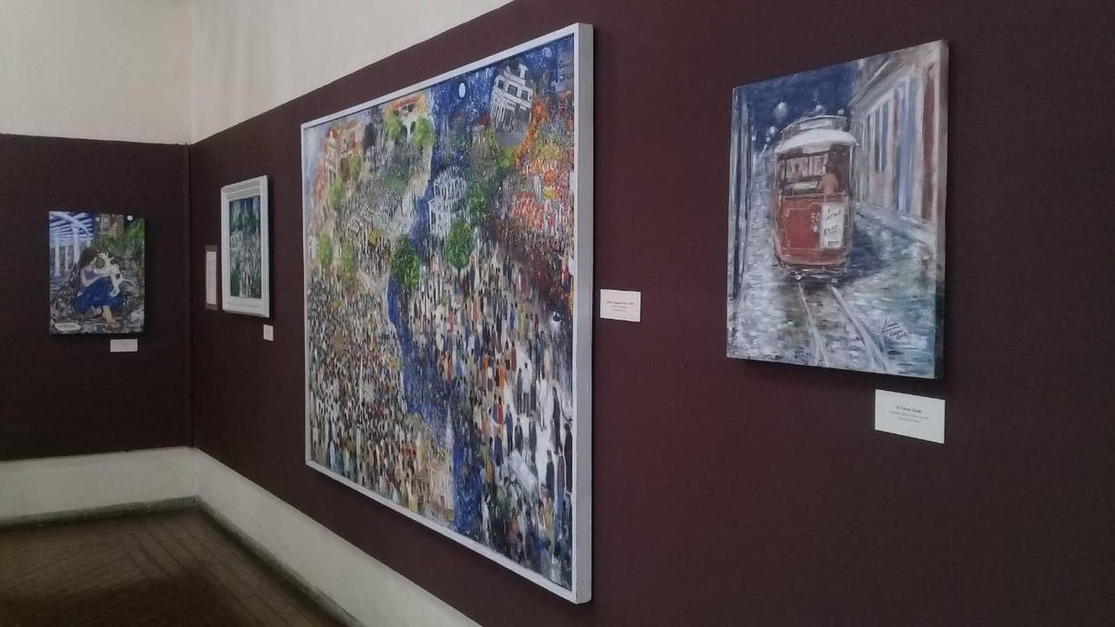 Obras de José de Campos Lima ficaram expostas na Biblioteca Infantil até o final de julho
