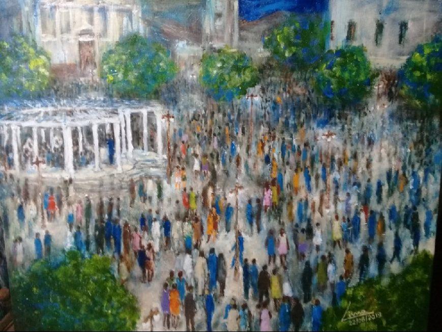 Exposição que retrata a praça central chega ao Mercado de Sorocaba