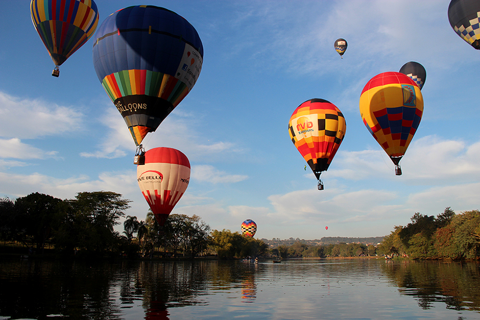 Araçoiaba oferece as condições ideais para a prática do balonismo