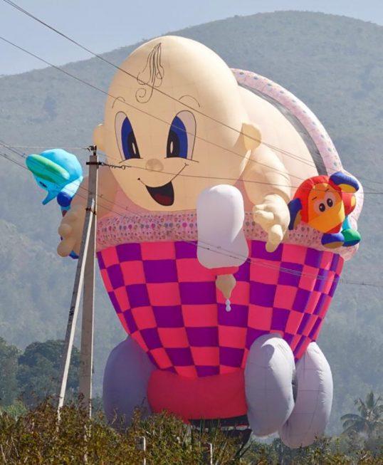 Balões de todos os formatos irão colorir o céu de Iperó durante três dias