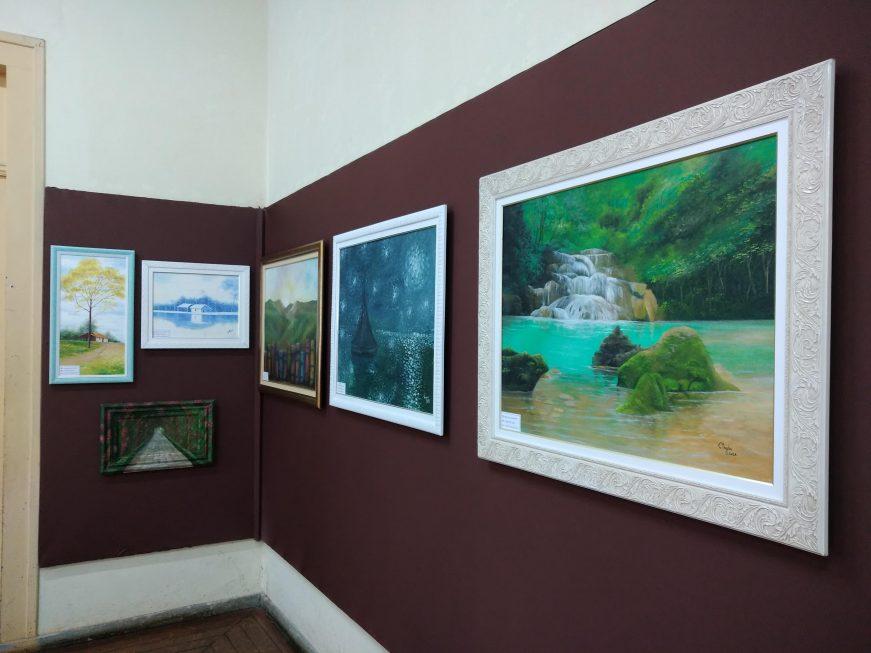 Biblioteca Infantil Municipal tem mostra em óleo sobre tela