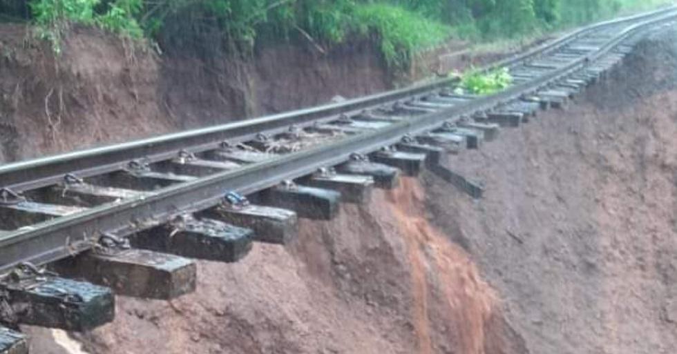 Circulação de trens em Sorocaba é afetada após deslizamento em Botucatu