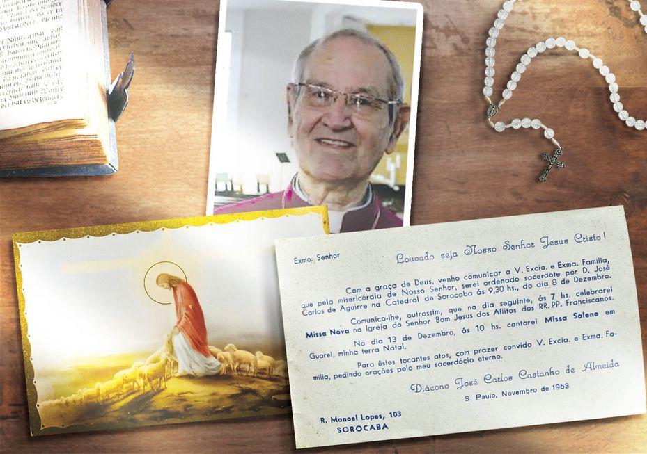 Convite raro da ordenação de José Carlos Castanho