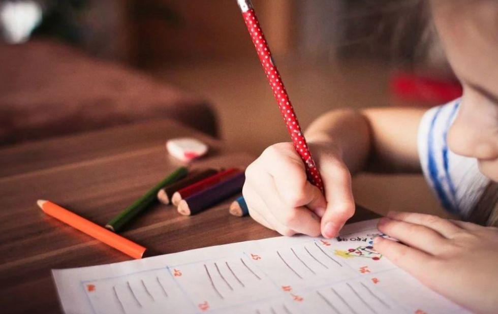 Professora monta atividades para crianças na internet