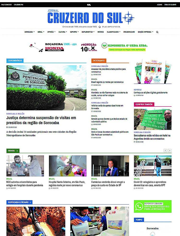 Cruzeiro libera acesso às notícias no portal