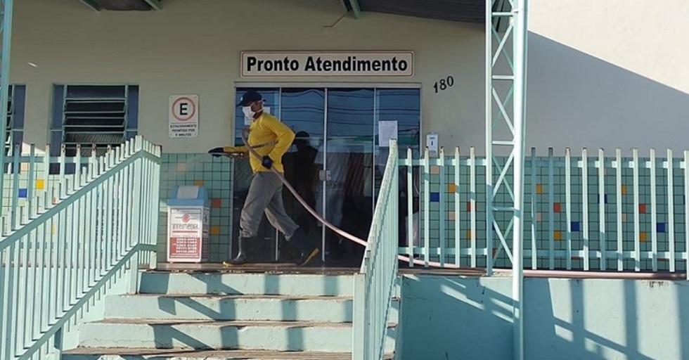 Prefeitura de Boituva inicia trabalho de desinfecção dos espaços públicos