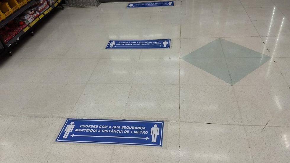 Parte dos supermercados descumpre as normas de prevenção do coronavírus