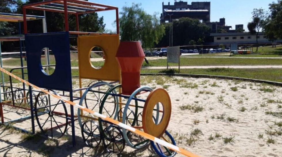 Playgrounds interditados