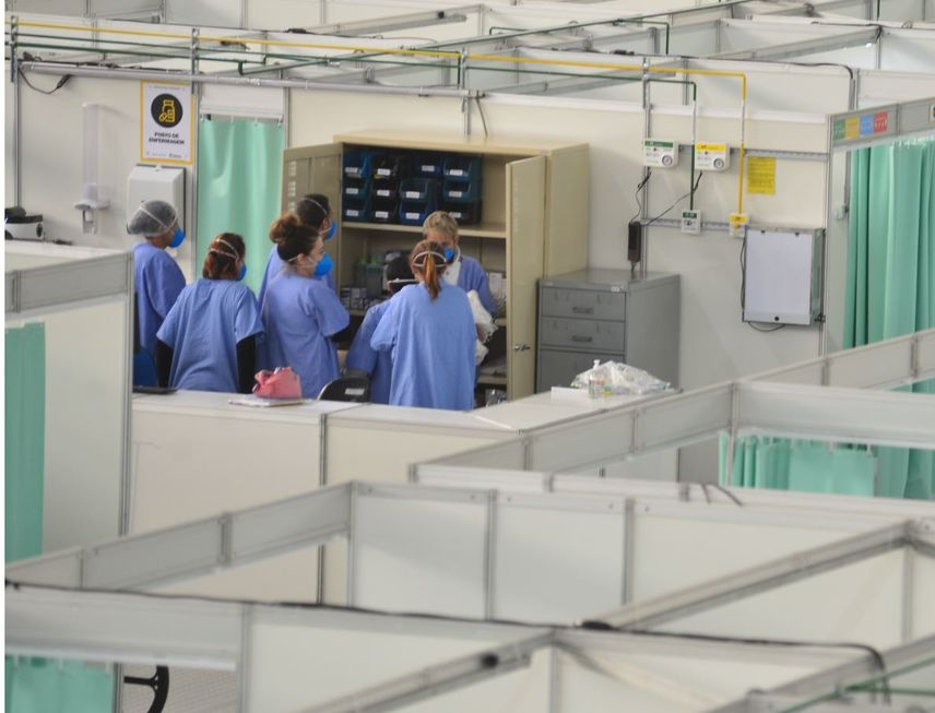 Ocupação chega a 85% no hospital de campanha