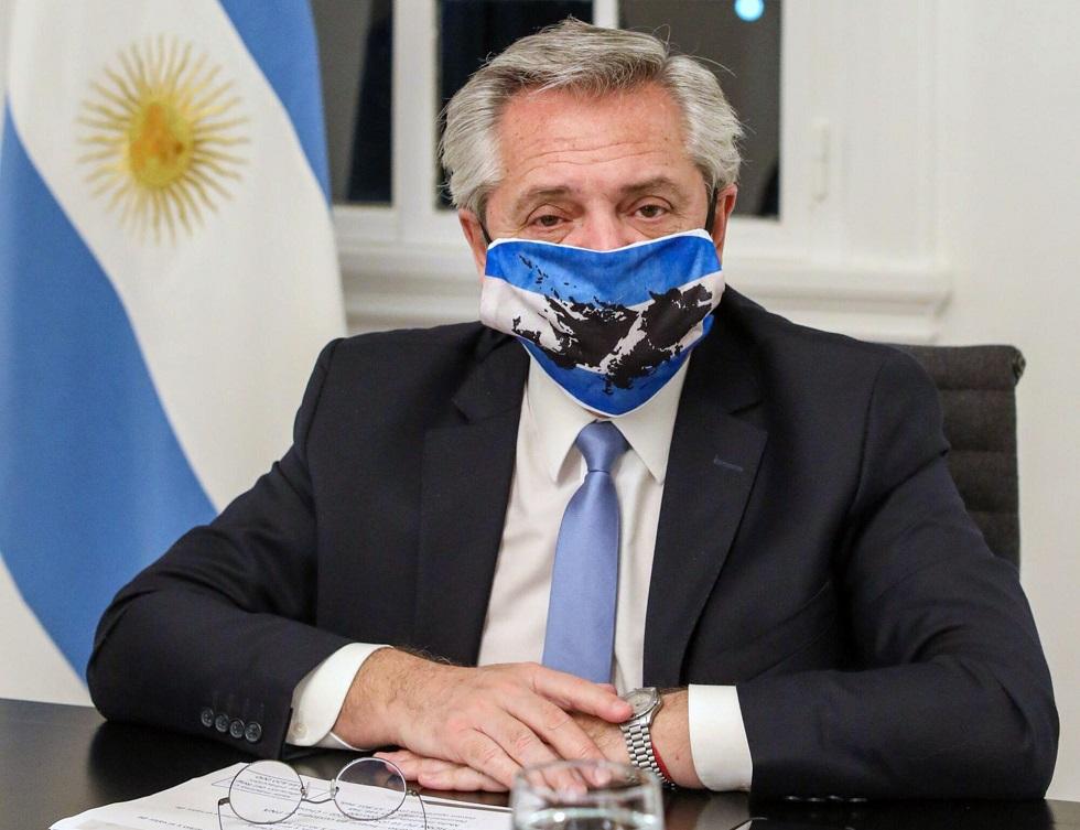O presidente argentino Alberto Fernández. Crédito da foto: AFP / Argentina's Presidency Press Office / Esteban Collazo