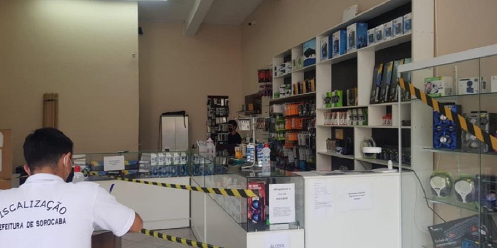 Prefeitura de Sorocaba notifica 50 comércios na região central