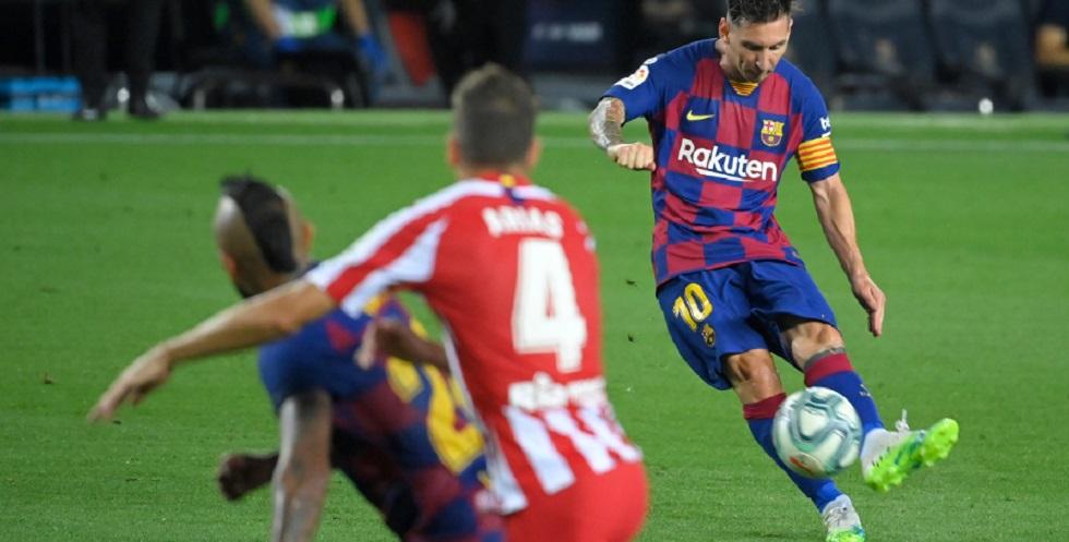 Messi chega ao 700º gol, mas Barcelona só empata com o Atlético de Madrid
