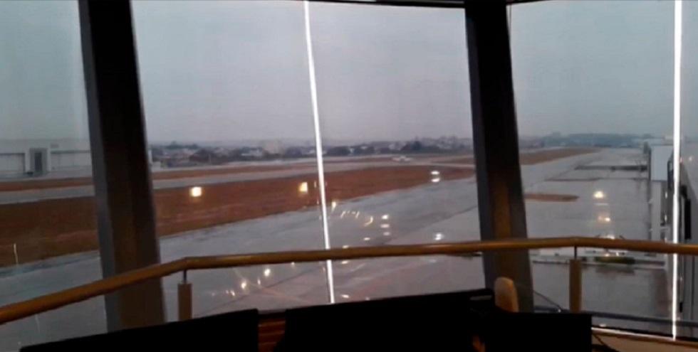 Torre de controle começa a operar no aeroporto de Sorocaba