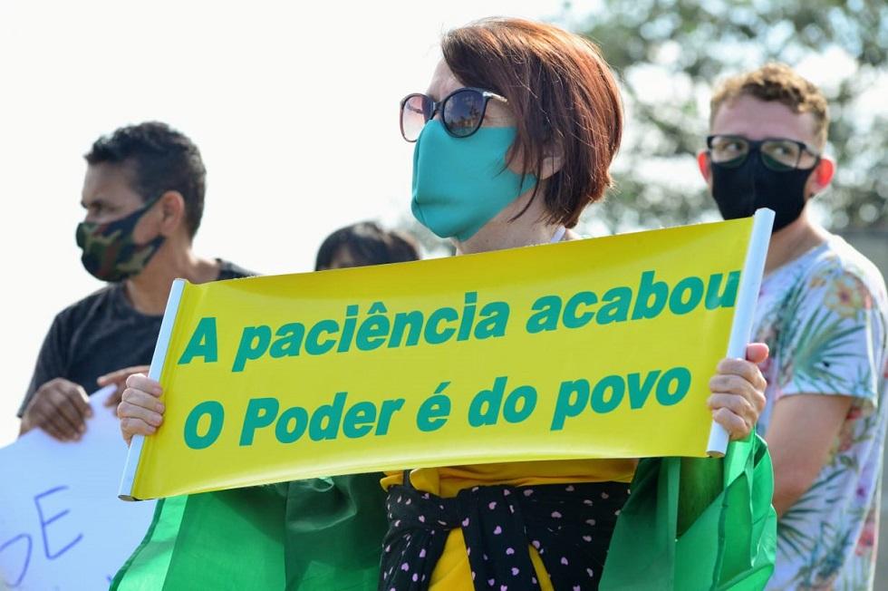 Manifestação pede a reabertura do comércio em Sorocaba