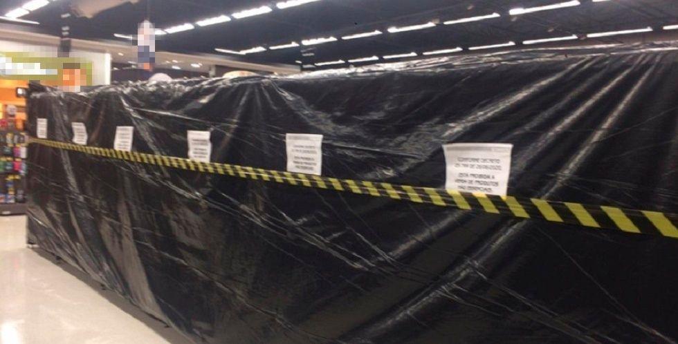Supermercados de Sorocaba isolam produtos não essenciais após decreto municipal