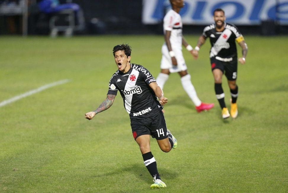 Vasco vence o São Paulo e mantém 100% de aproveitamento no Brasileirão
