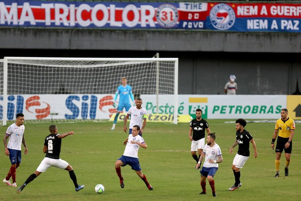 Gol nos acréscimos faz Bahia vencer RB Bragantino