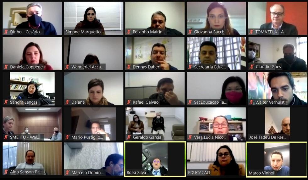 Reunião on-line debate retorno às aulas na Região Metropolitana de Sorocaba