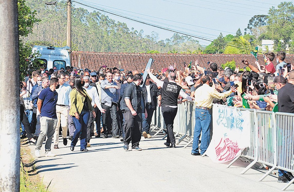 Visita do presidente Jair Bolsonaro na região movimenta Tapiraí