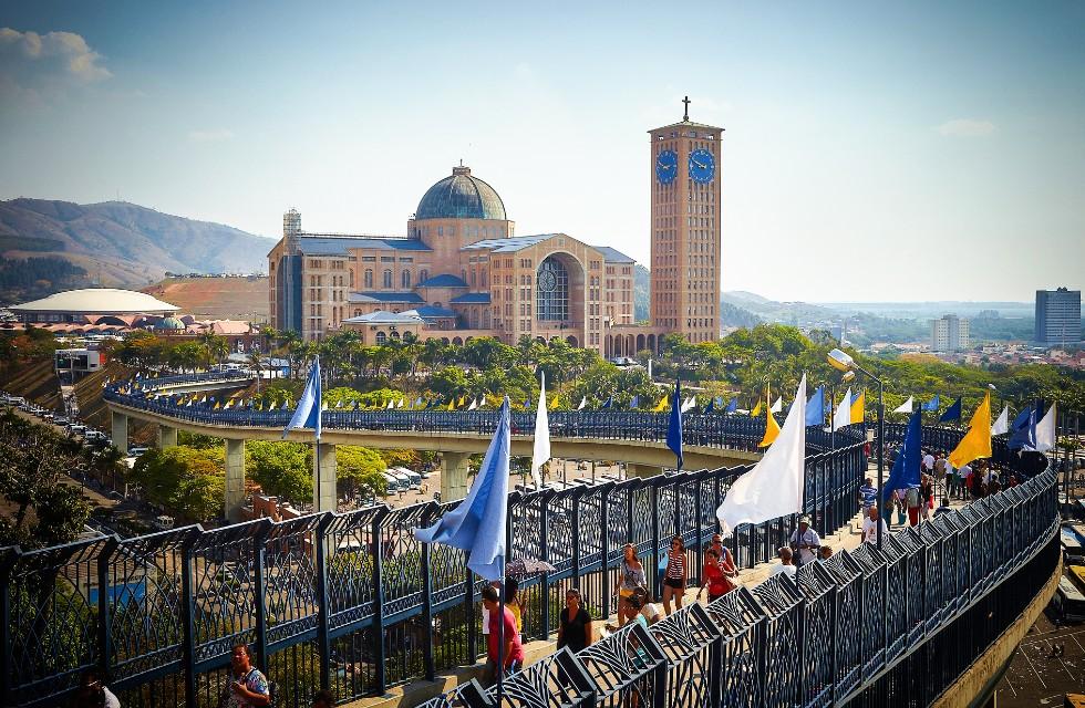 Basílica de Nossa Senhora de Aparecida é um dos destinos mais procurados pelos católicos no mundo. Crédito da Foto: Divulgação / Governo do Estado SP