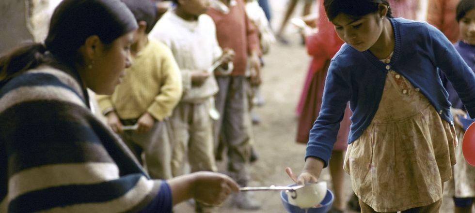 Levar comida a quem tem fome