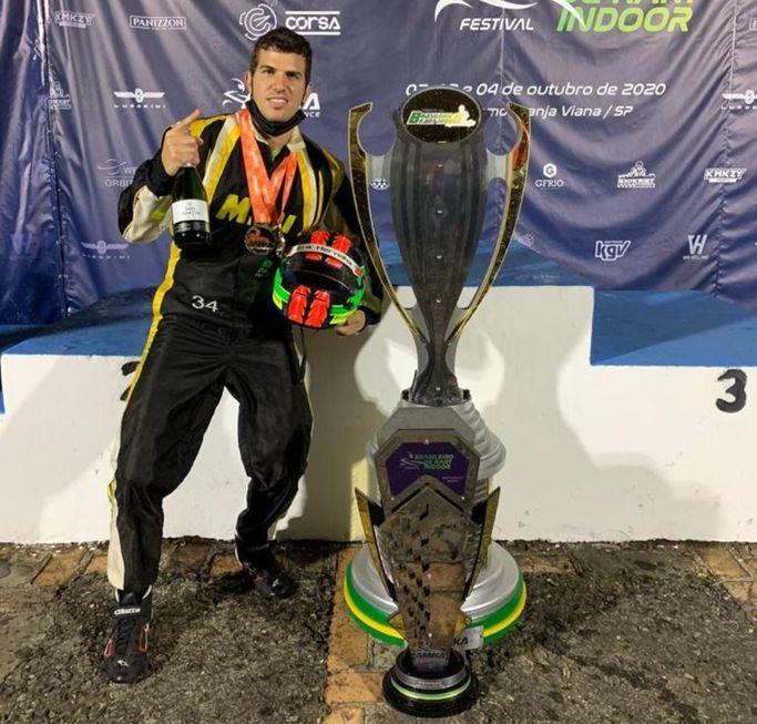 Sorocabano ganha título nacional de kart indoor