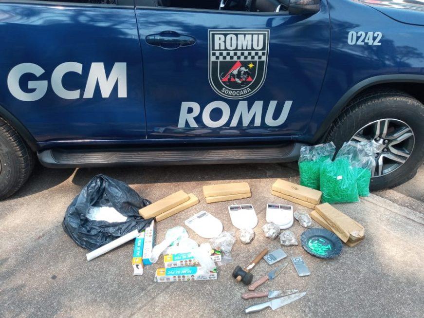 Jovem é preso com quase 10kg de drogas no Parque São Bento