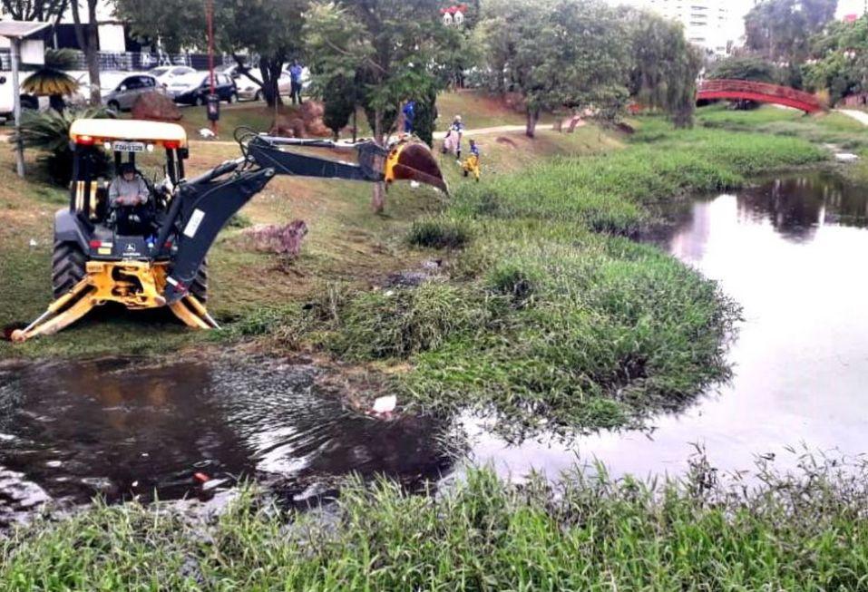 Bacias de contenção vão receber desassoreamento para prevenir enchentes