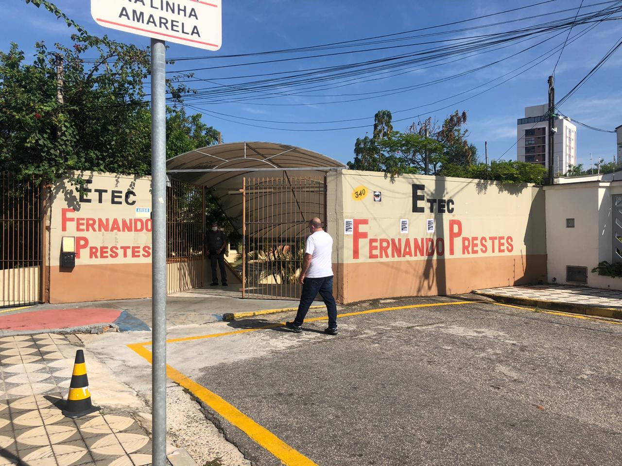 Etec Fernando Prestes é uma das escolas que receberá milhares de munícipes para as votações municipais em Sorocaba. Crédito da Foto: Cortesia / Laura Helena de Souza / Uniso