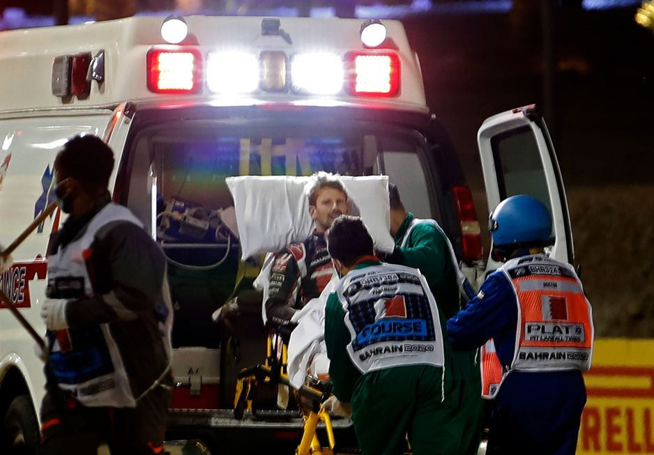 Grosjean viu 'morte chegando' em acidente