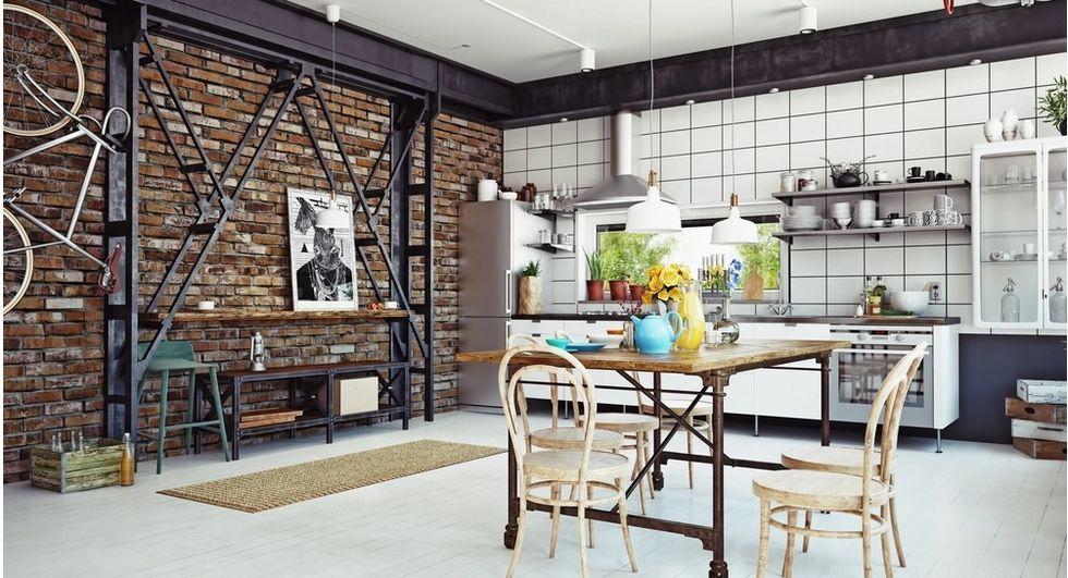 O charme do estilo industrial na cozinha