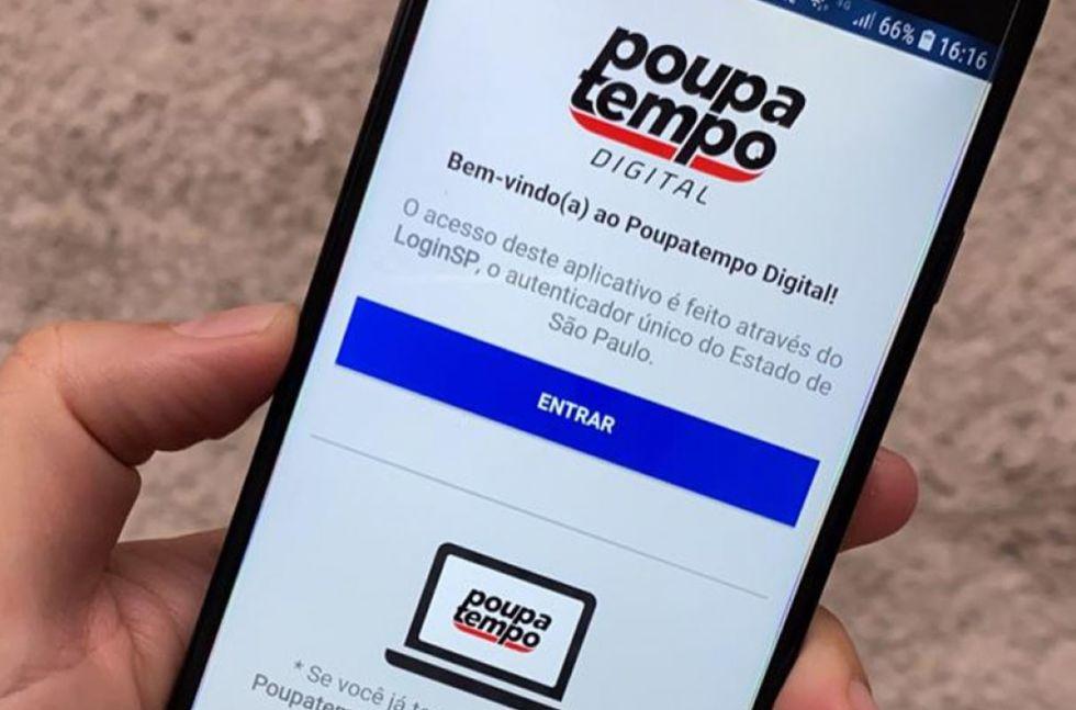 Poupatempo Digital é alternativa. Crédito da foto: Divulgação / Agência SP (6/6/2020)