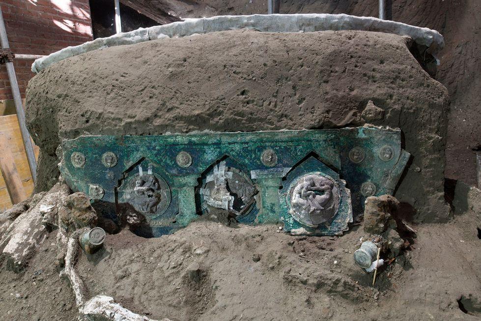 Carruagem em Pompeia