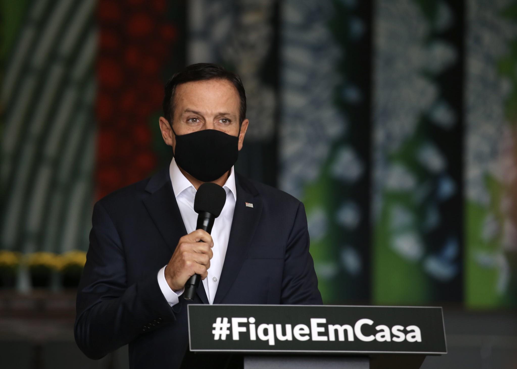 Governador João Doria. Crédito da Foto: Divulgação / Governo do Estado de SP (10/03/2021)